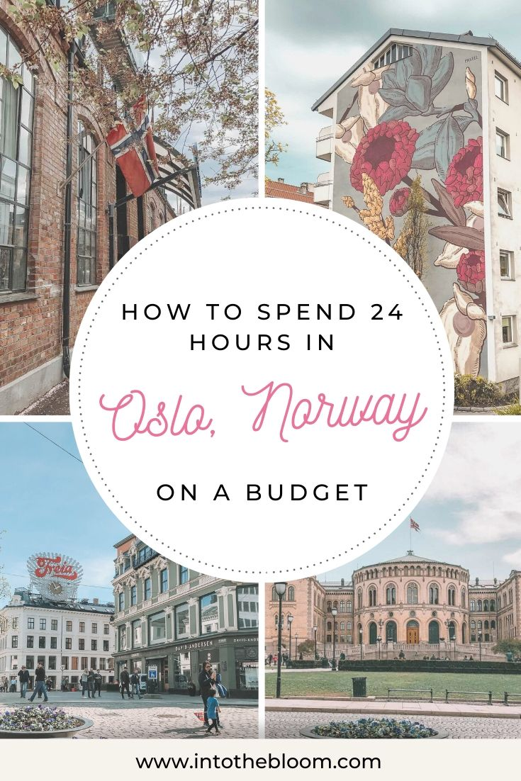 A blog post with tips and tricks on how to spend 24 hours in Oslo, Norway on a budget