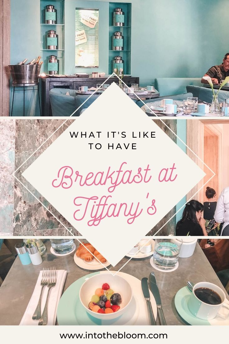 A blog post describing my experience having breakfast at Tiffany's NYC flagship store on Fifth Avenue.