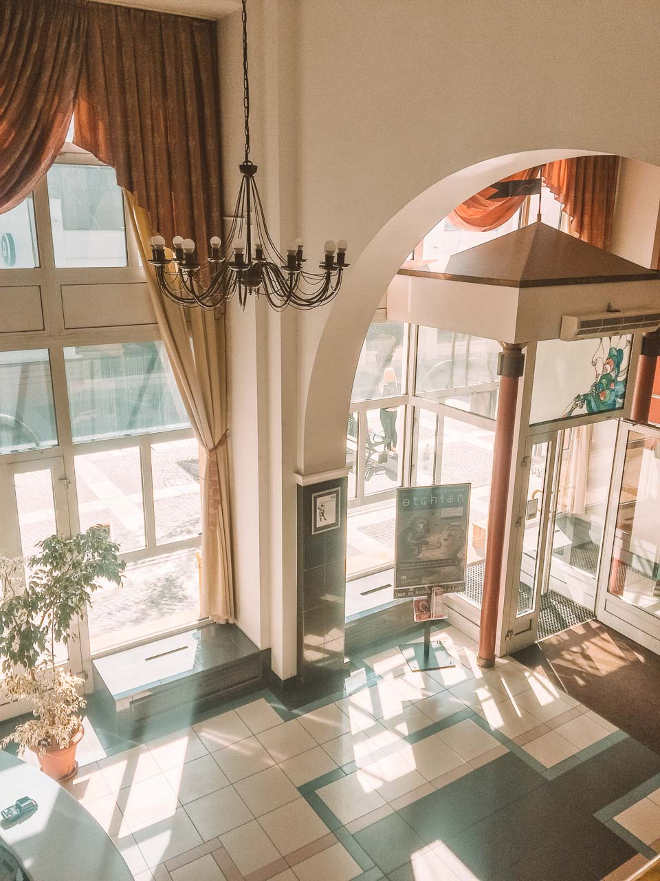 The foyer of Hotel Savoy in Łódź, Poland