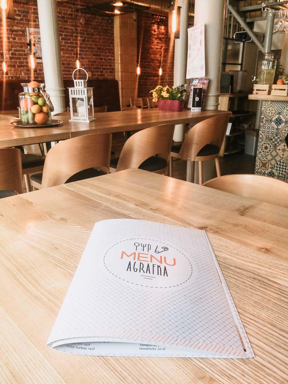 The inside of Agrafka in Łódź, Poland
