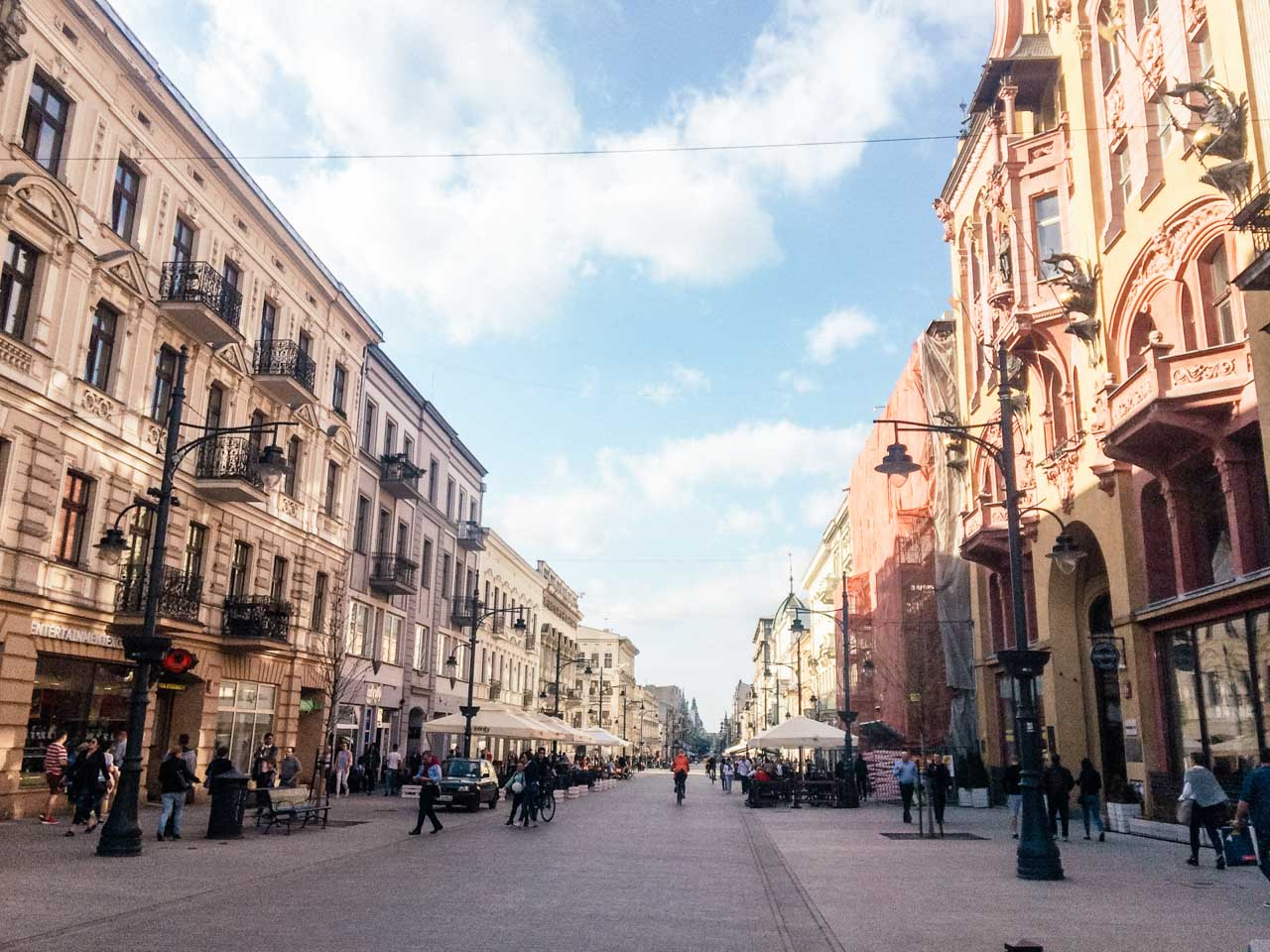 Piotrkowska Street in Łódź, Poland