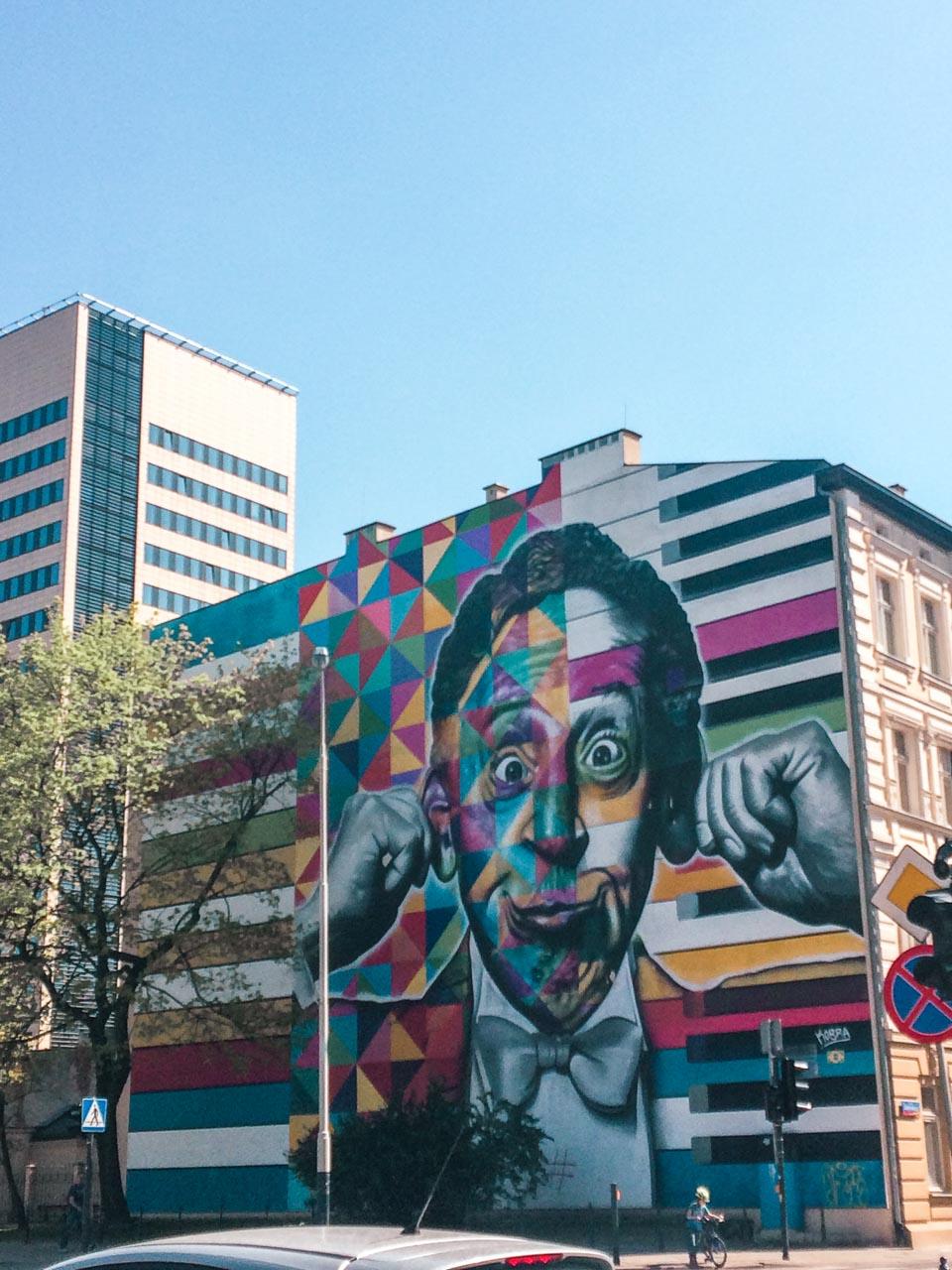 Arthur Rubinstein mural in Łódź, Poland