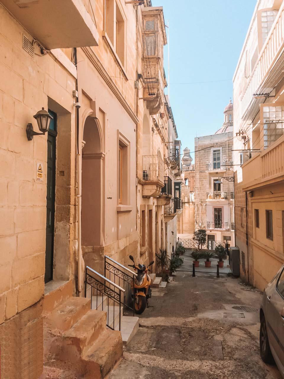 A traditional street in Birgu, Malta