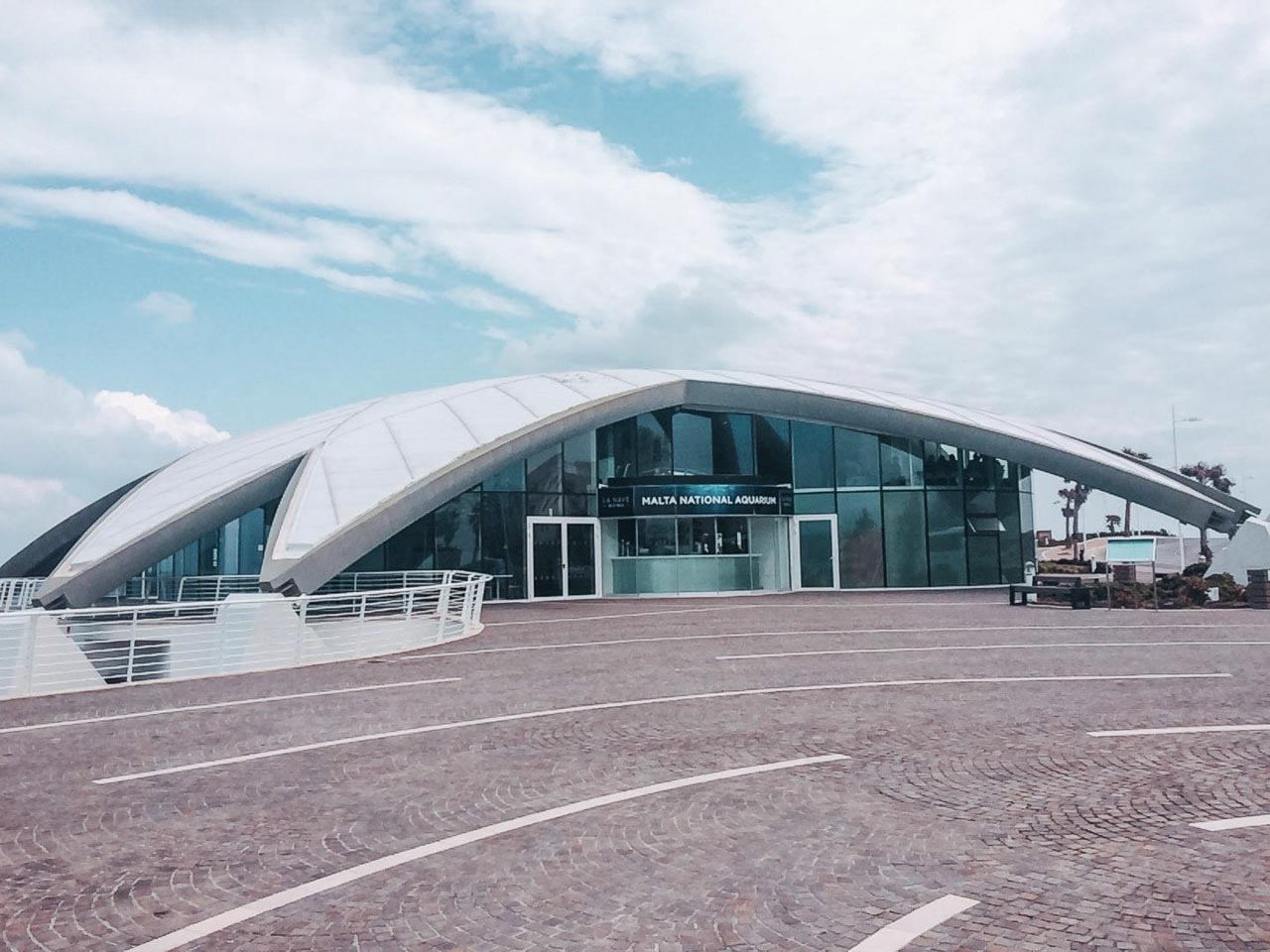 The starfish-shaped building of Malta National Aquarium