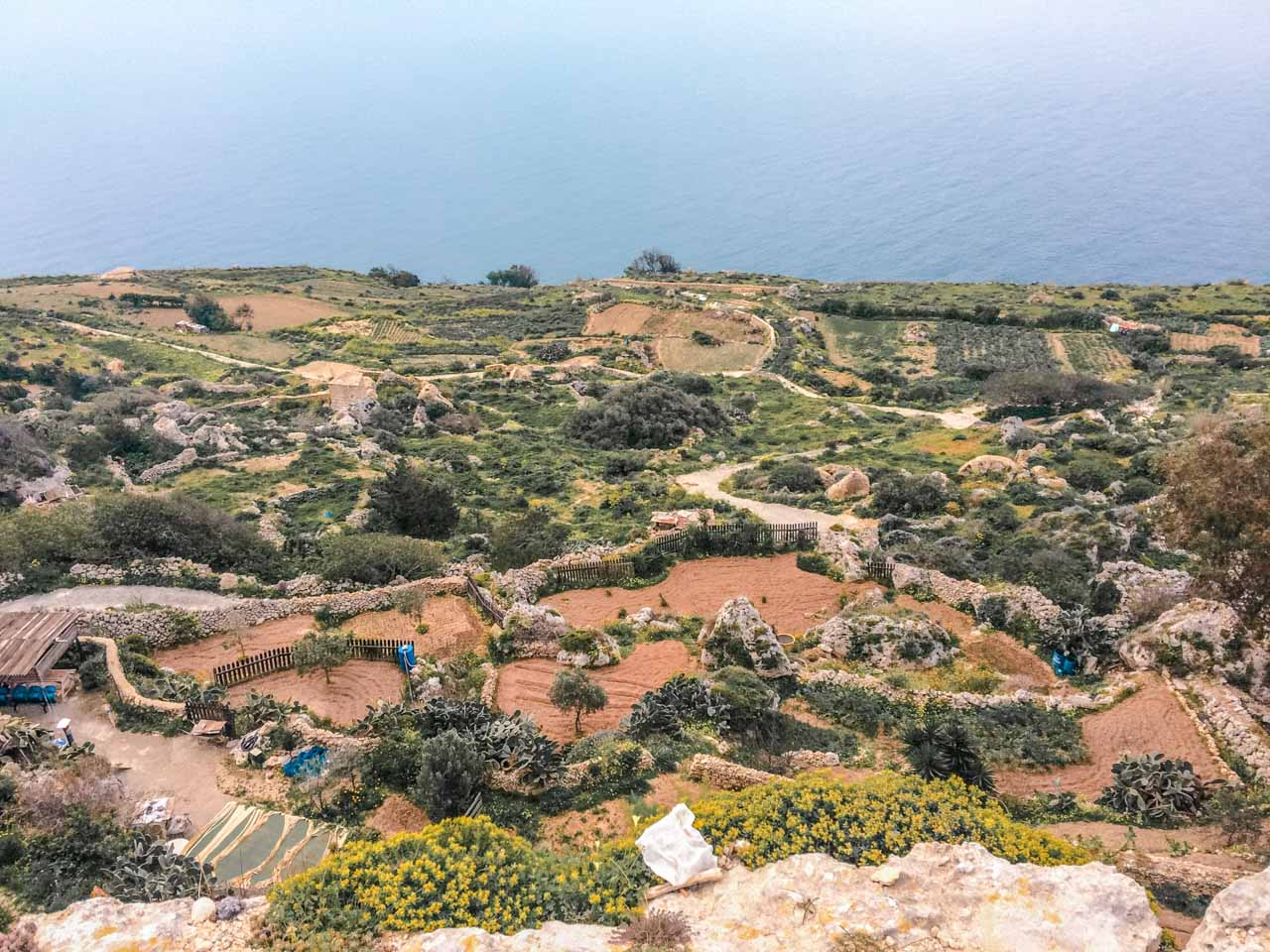Fields beneath the Dingli Cliffs, Malta