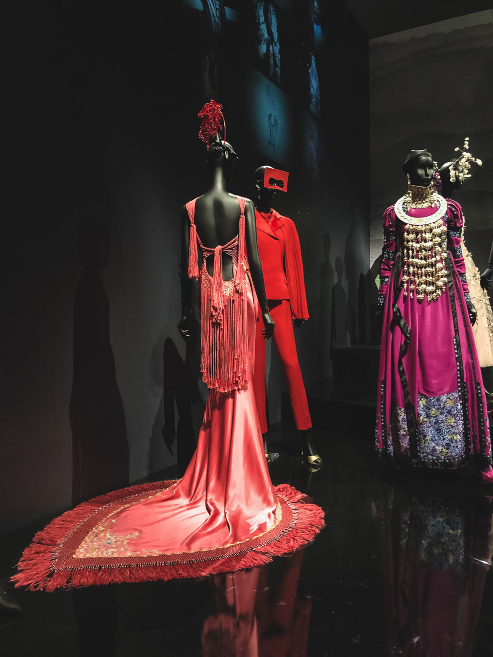 Travel-inspired designs of John Galliano for Dior at the Victoria and Albert Museum in London