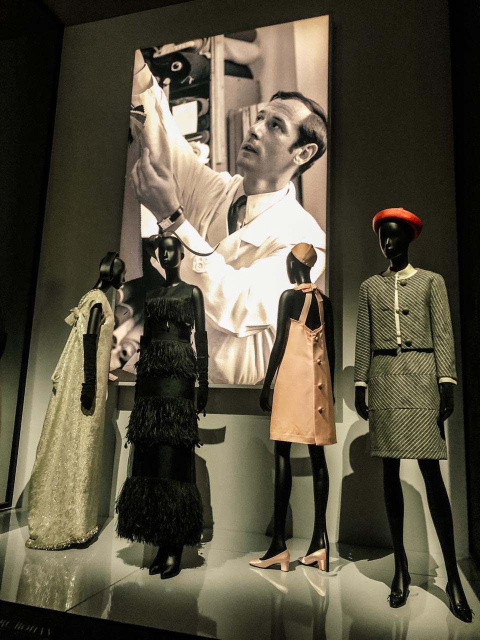 Creations of Marc Bohan for Dior at the Victoria and Albert Museum in London