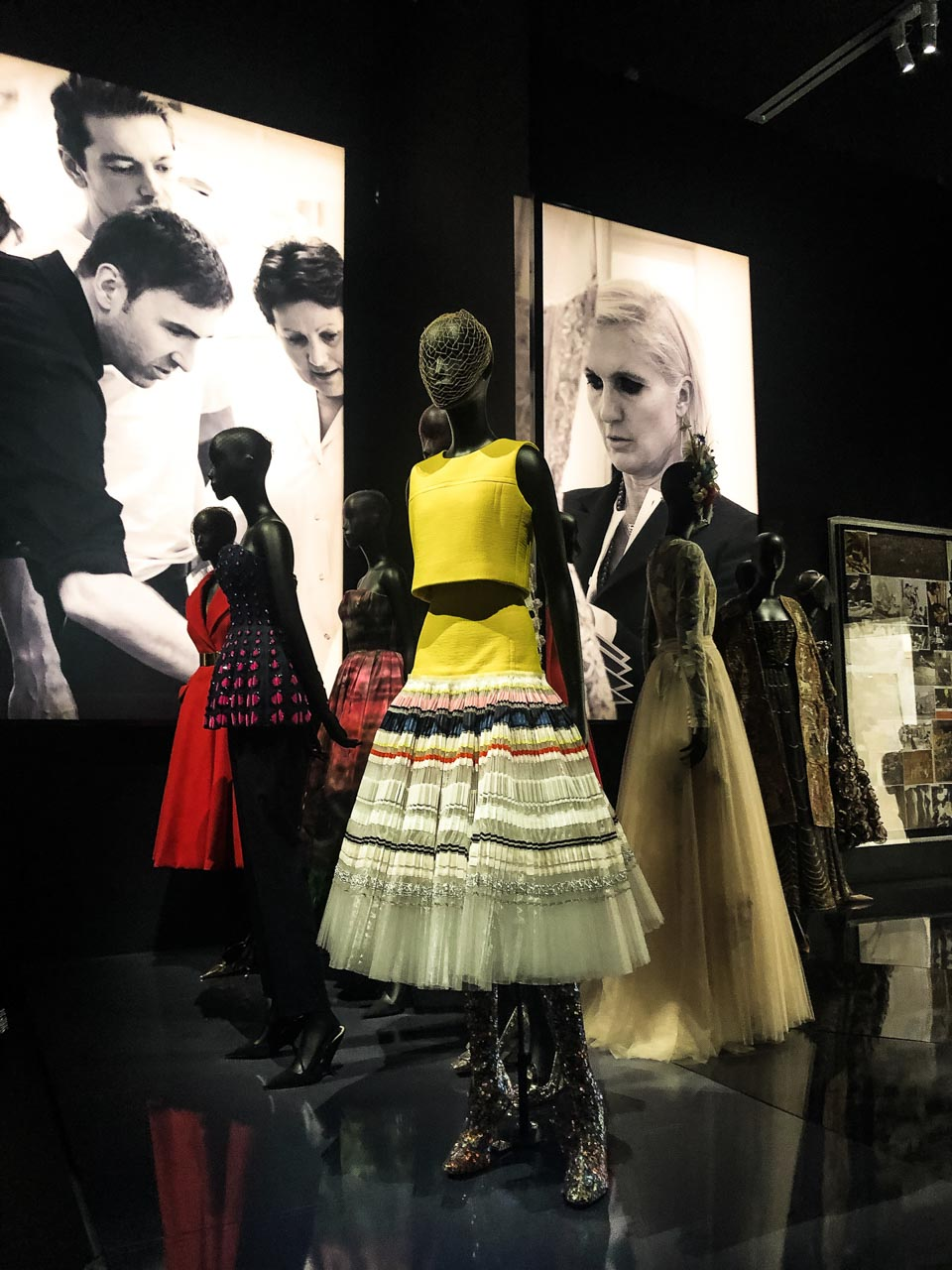 Creations of Raf Simons for Dior at the Victoria and Albert Museum in London