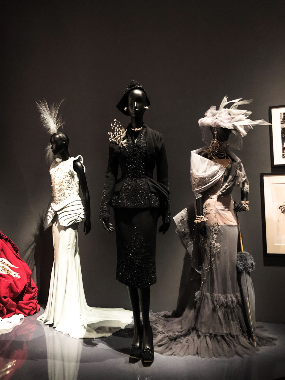 Creations of John Galliano for Dior at the Victoria and Albert Museum in London