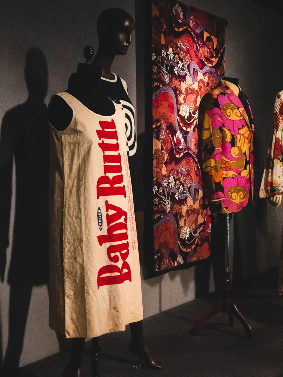 The A-line Baby Ruth dress by Mars of Asheville on display at the Museum at the Fashion Institute of Technology in New York