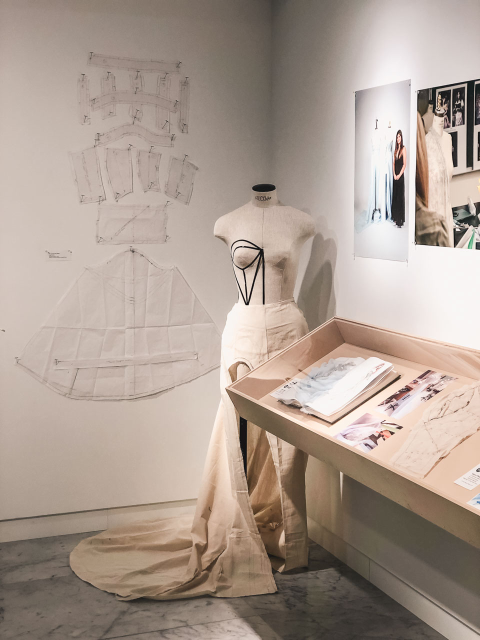 A prototype on display at the Disney on Broadway x FIT Design Challenge Exhibition in New York