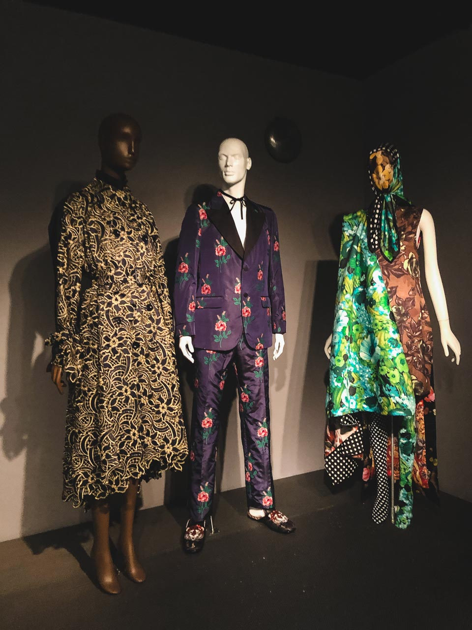 Maximalist garments on display at the Museum at the Fashion Institute of Technology in New York