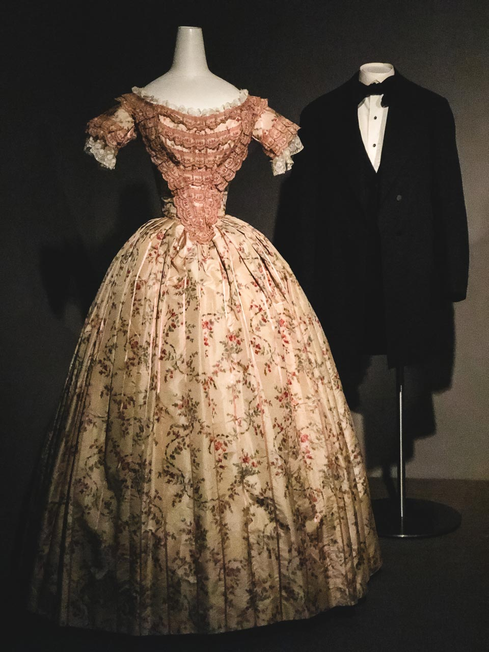 19th century garments on display at the Museum at the Fashion Institute of Technology in New York