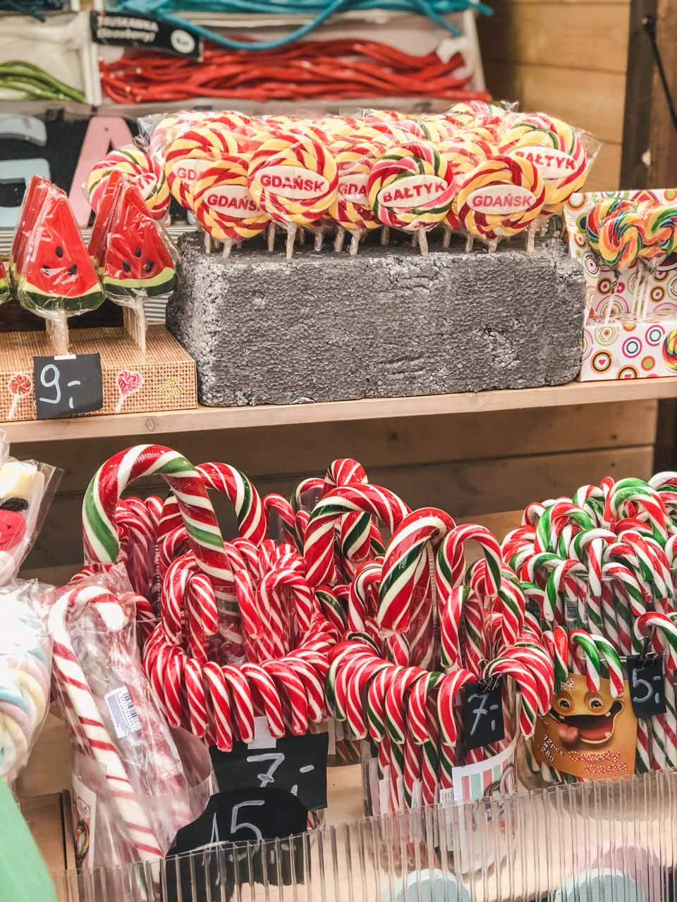 Candy canes and lollipops