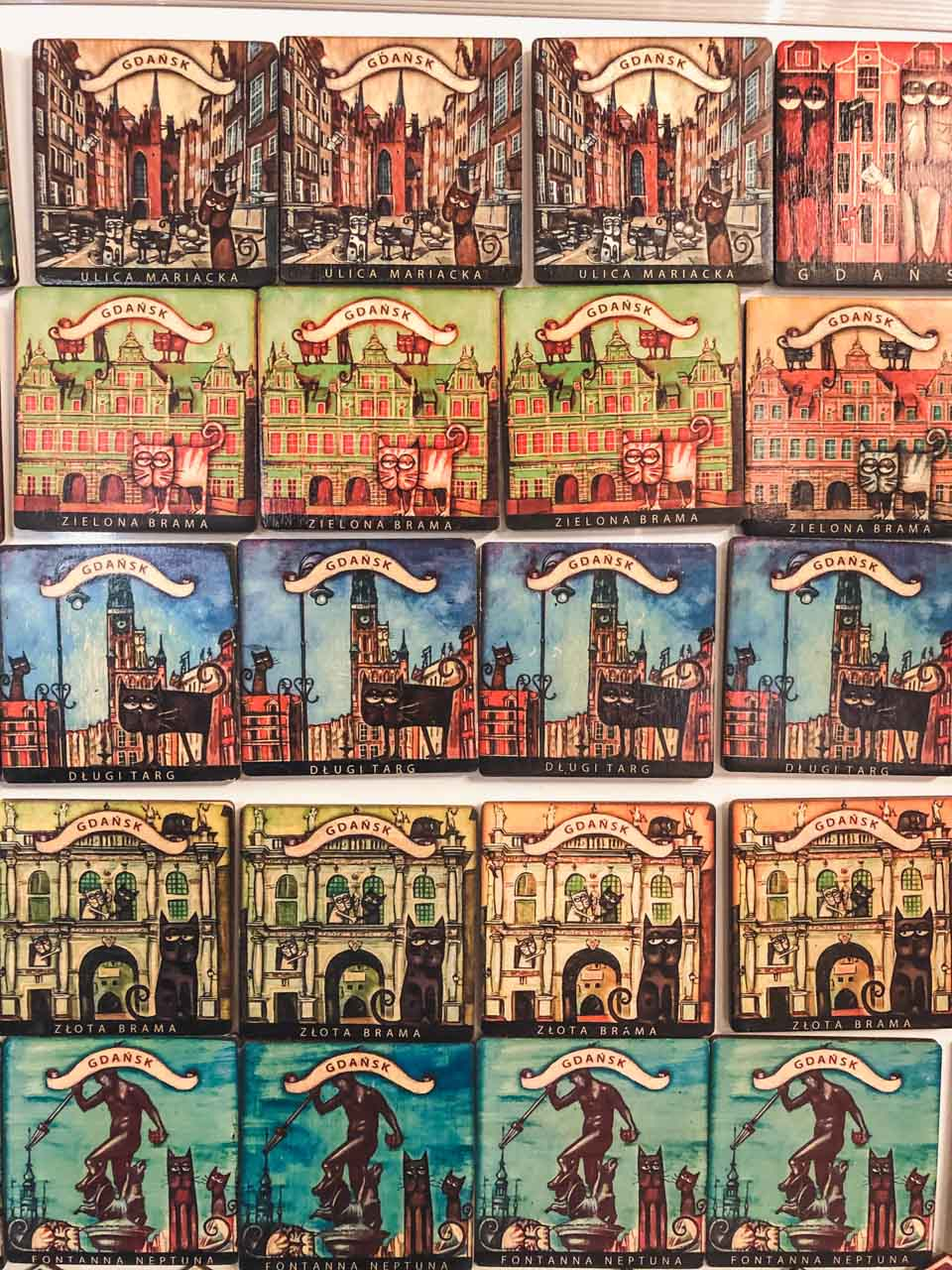 Fridge magnets at the Arts and Crafts Market in Gdańsk
