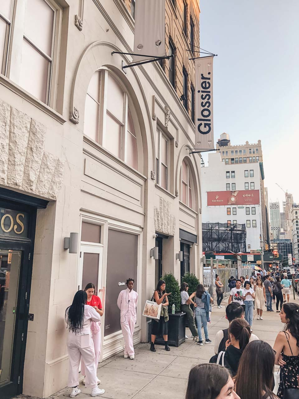 The entrance to the Glossier flagship store in New York City