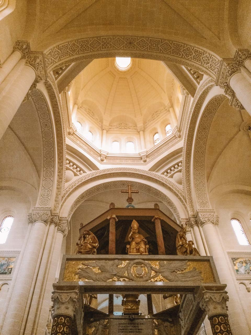The inside of the Basilica of Ta' Pinu in Gozo