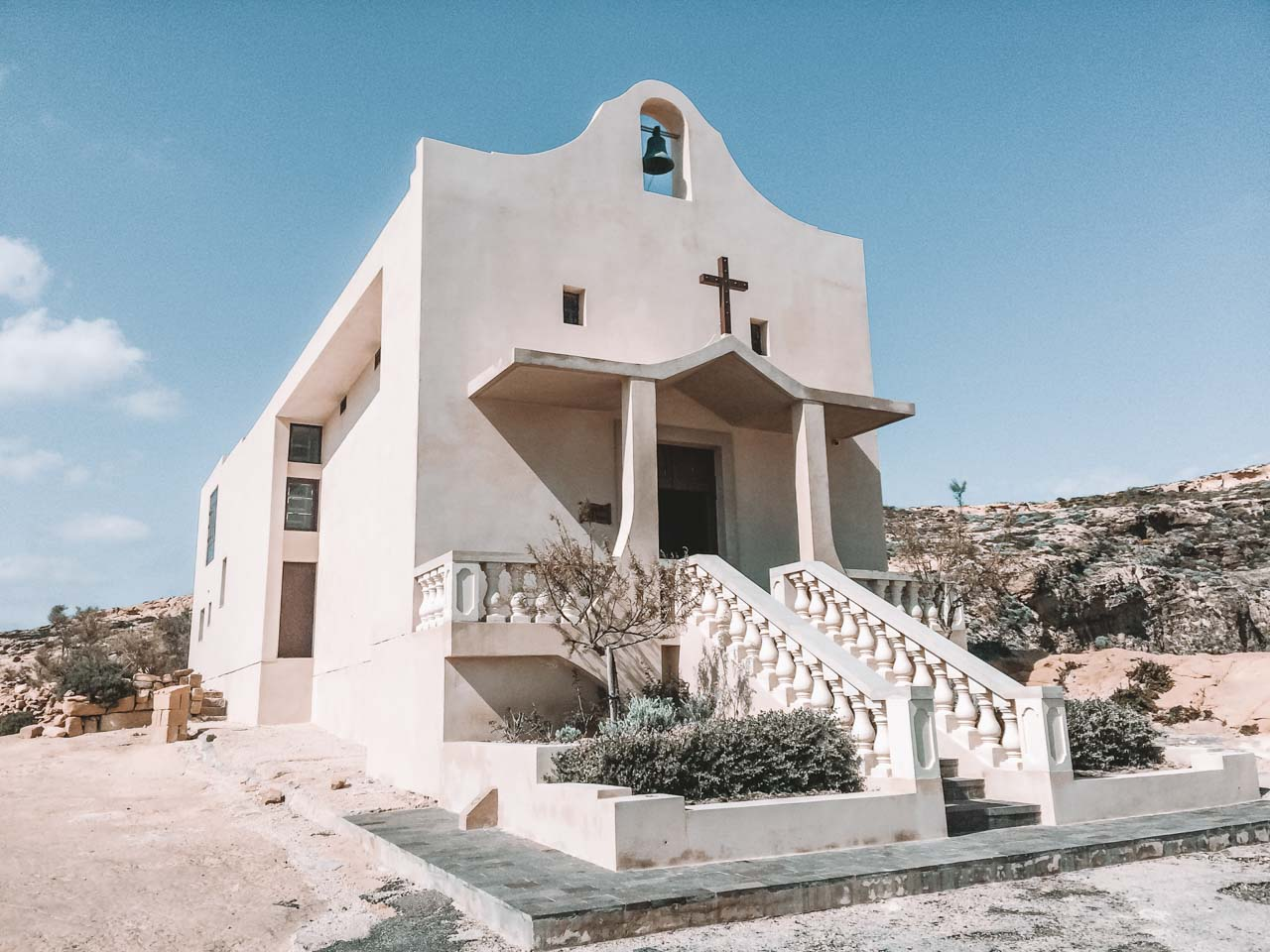A traditional church next to the Azure Window, Gozo