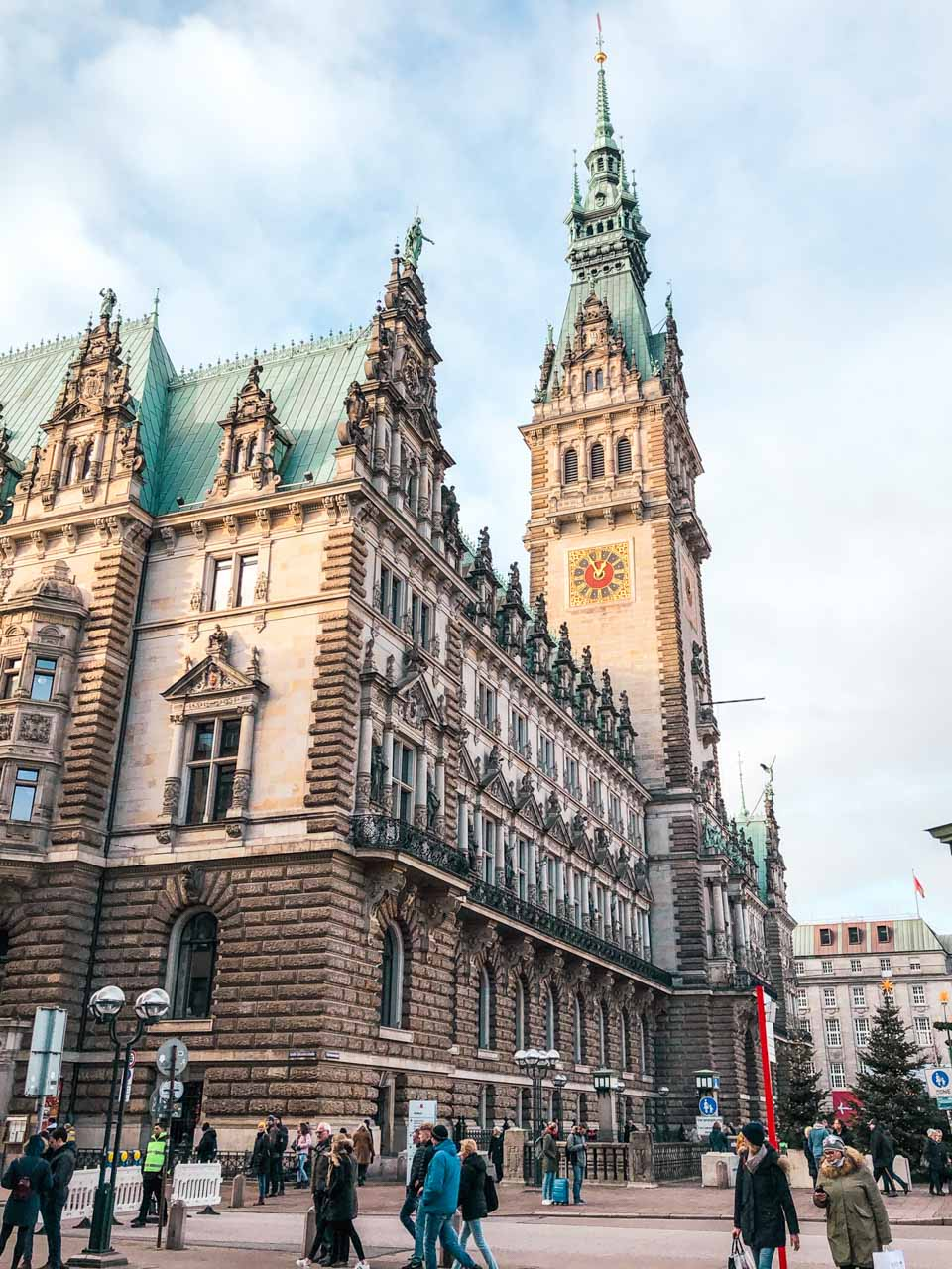 The City Hall building in Hamburg, Germany