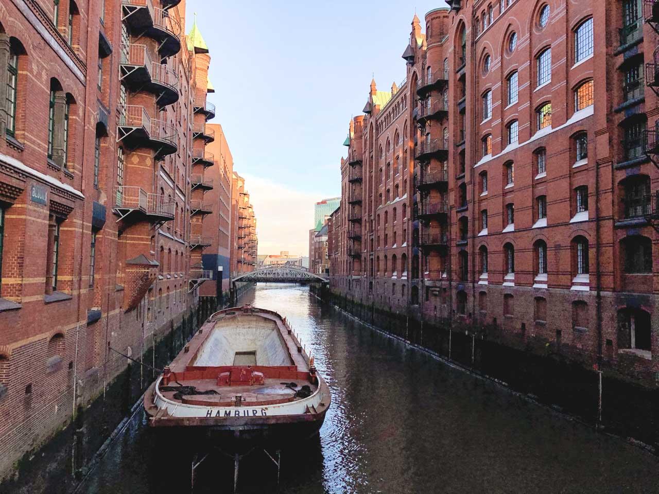Hamburg's warehouse district of Speicherstadt