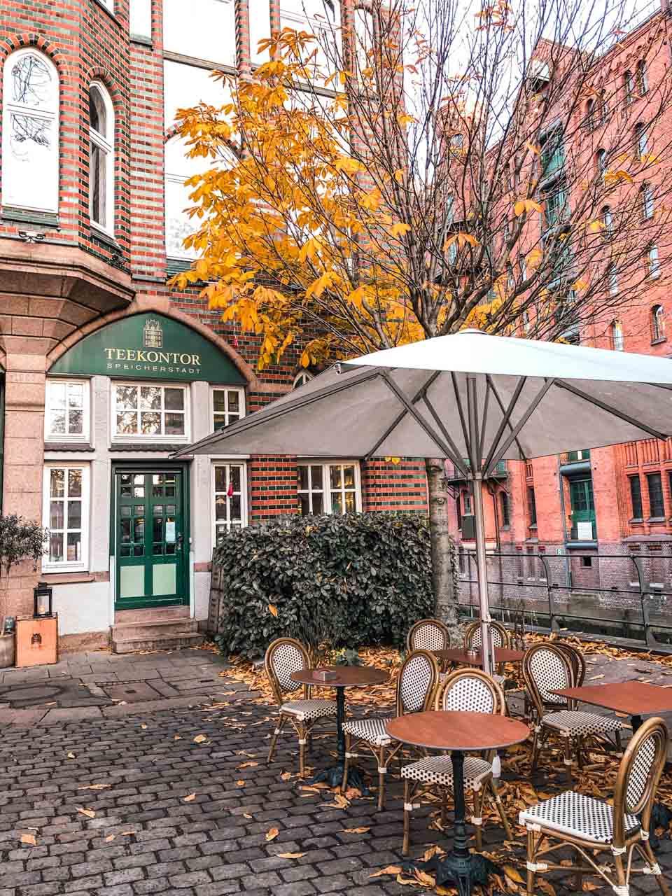 The outside of Wasserschloss Tea Shop in Hamburg