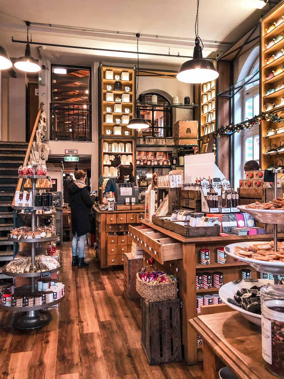 The inside of Wasserschloss Tea Shop in Hamburg