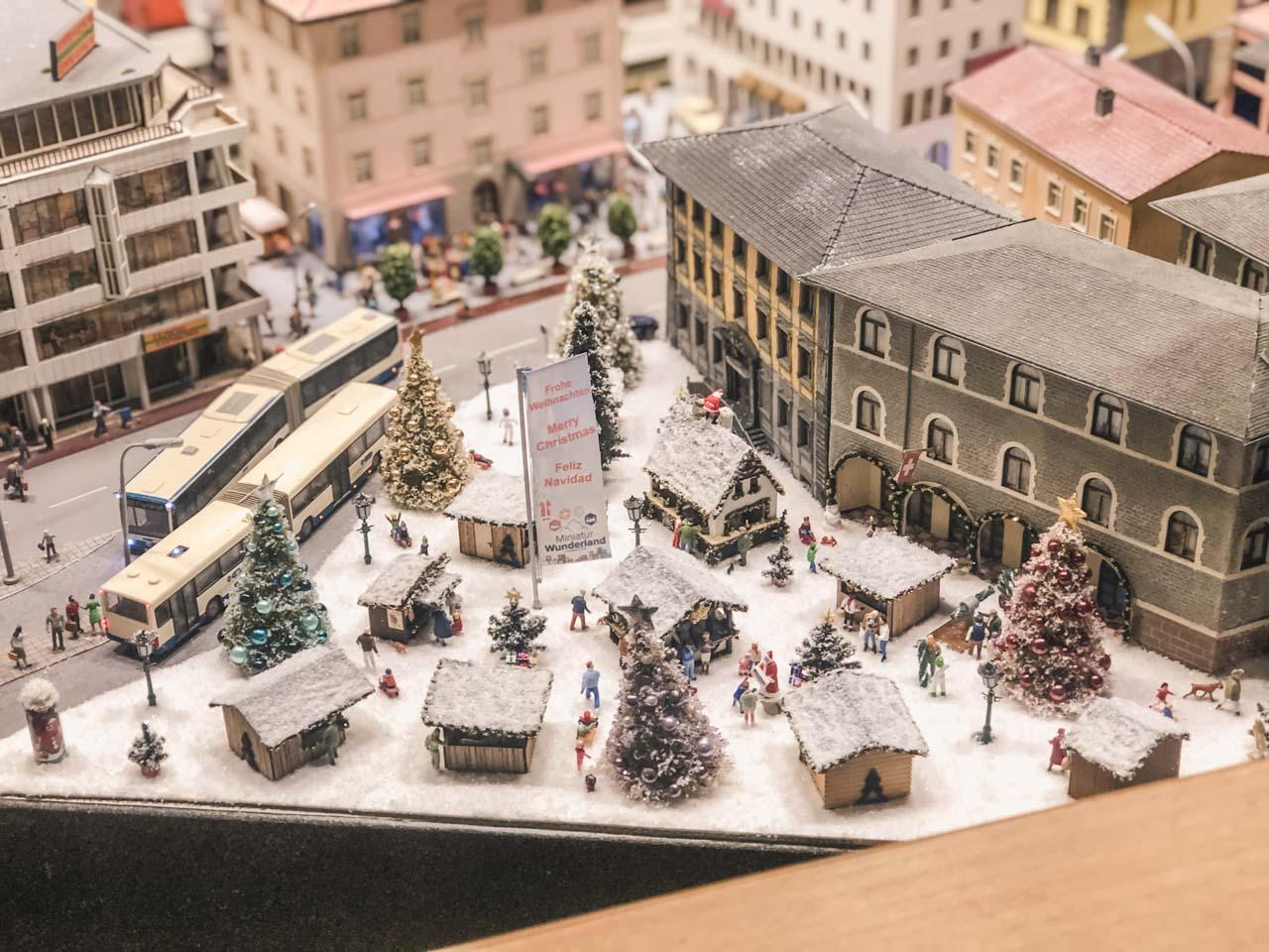 Figurines inside Miniatur Wunderland in Hamburg