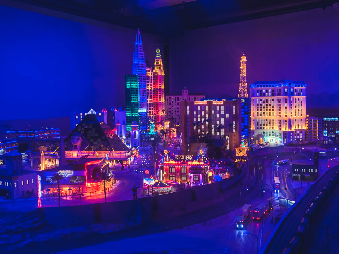 The Las Vegas section of Miniatur Wunderland in Hamburg