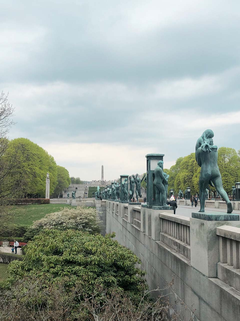Sculptures in the Vigeland Sculpture Park in Oslo, Norway