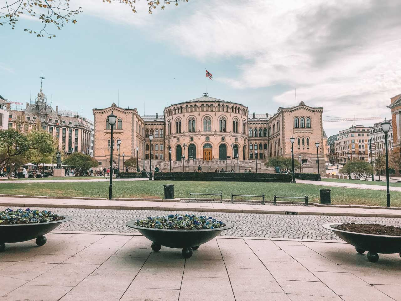 The Parliament building (Stortinget) in Oslo, Norway