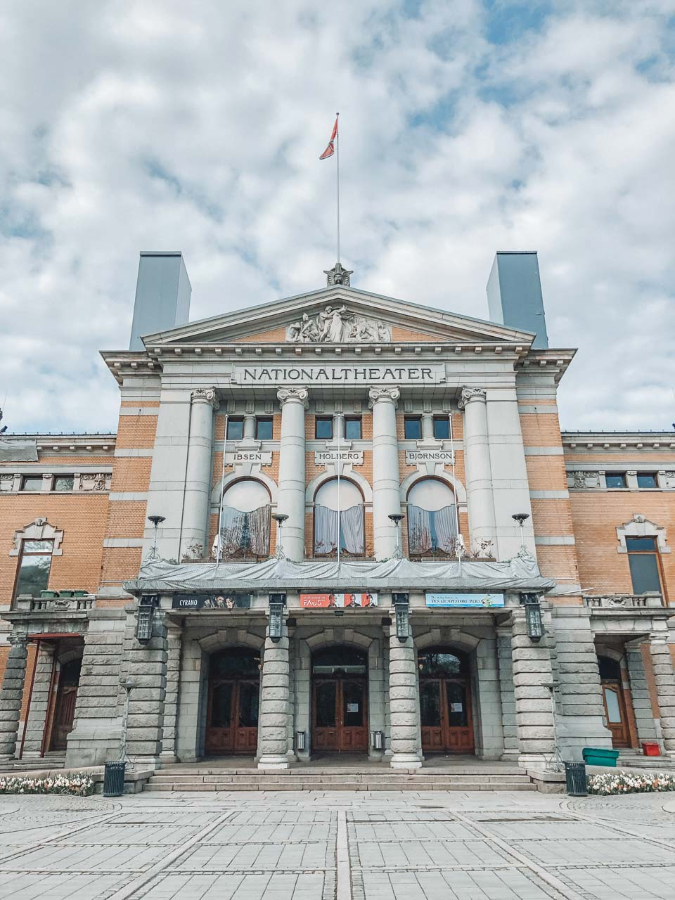 The National Theatre building in Oslo, Norway