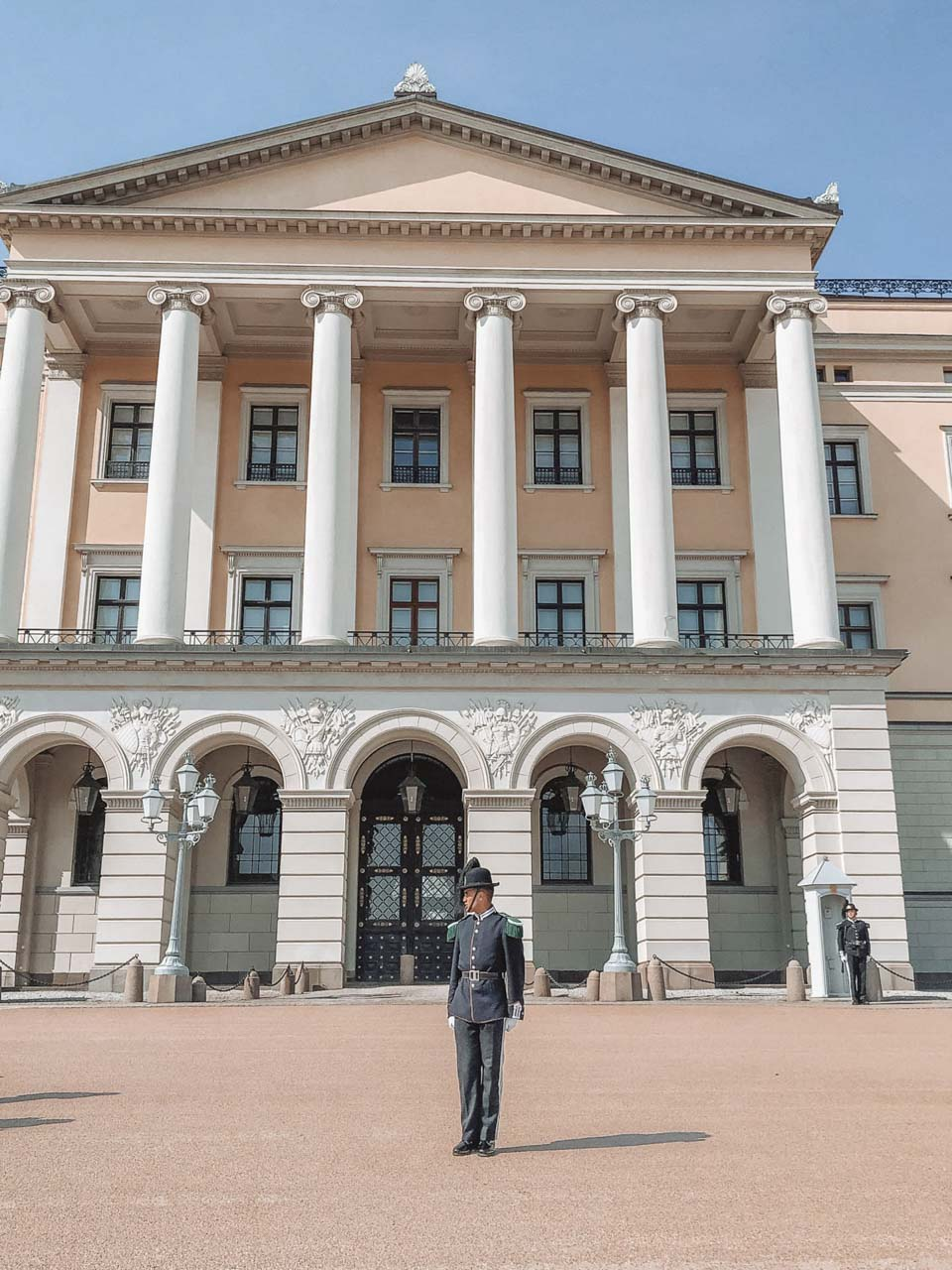 Changing of the guards at the Royal Palace in Oslo, Norway