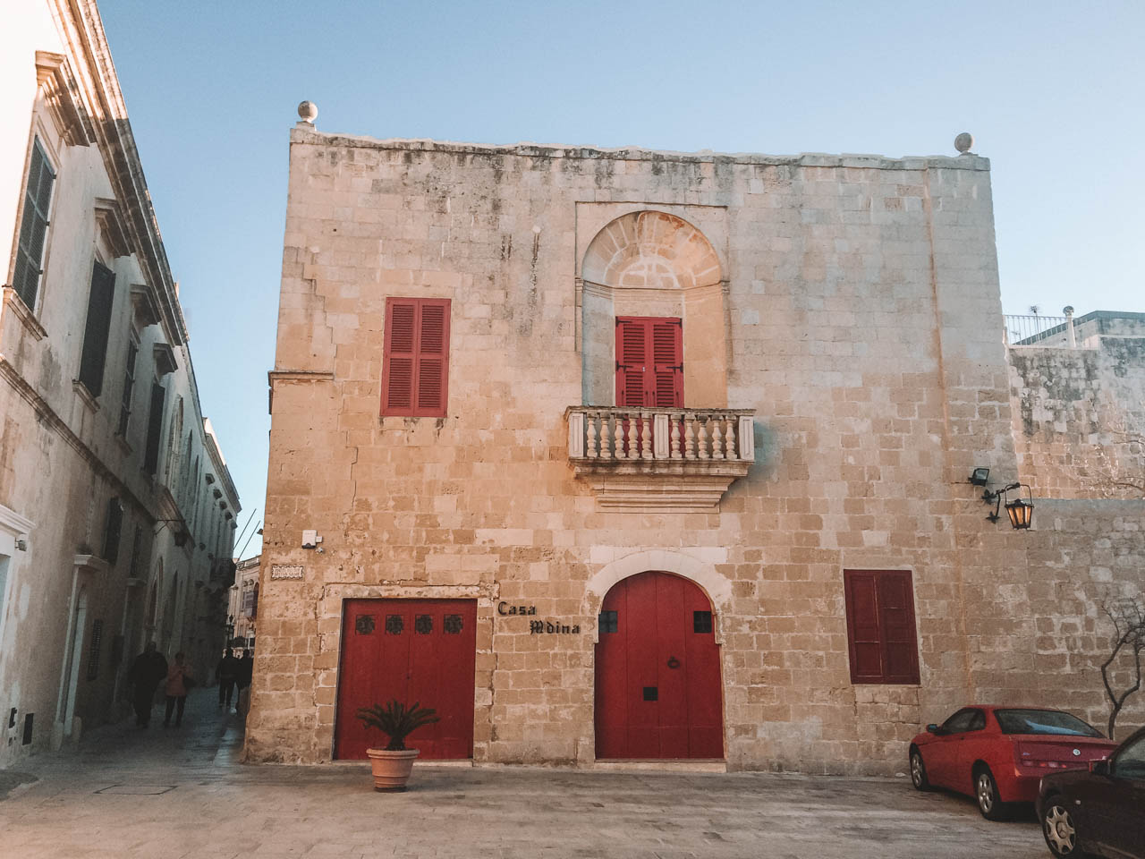The outside of Casa Mdina in Mdina, Malta