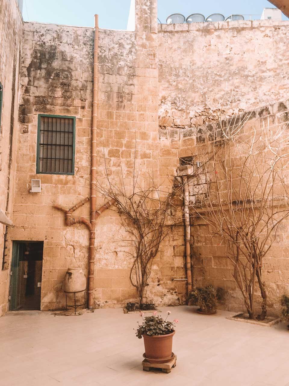 Courtyard at the Wignacourt Museum in Rabat, Malta