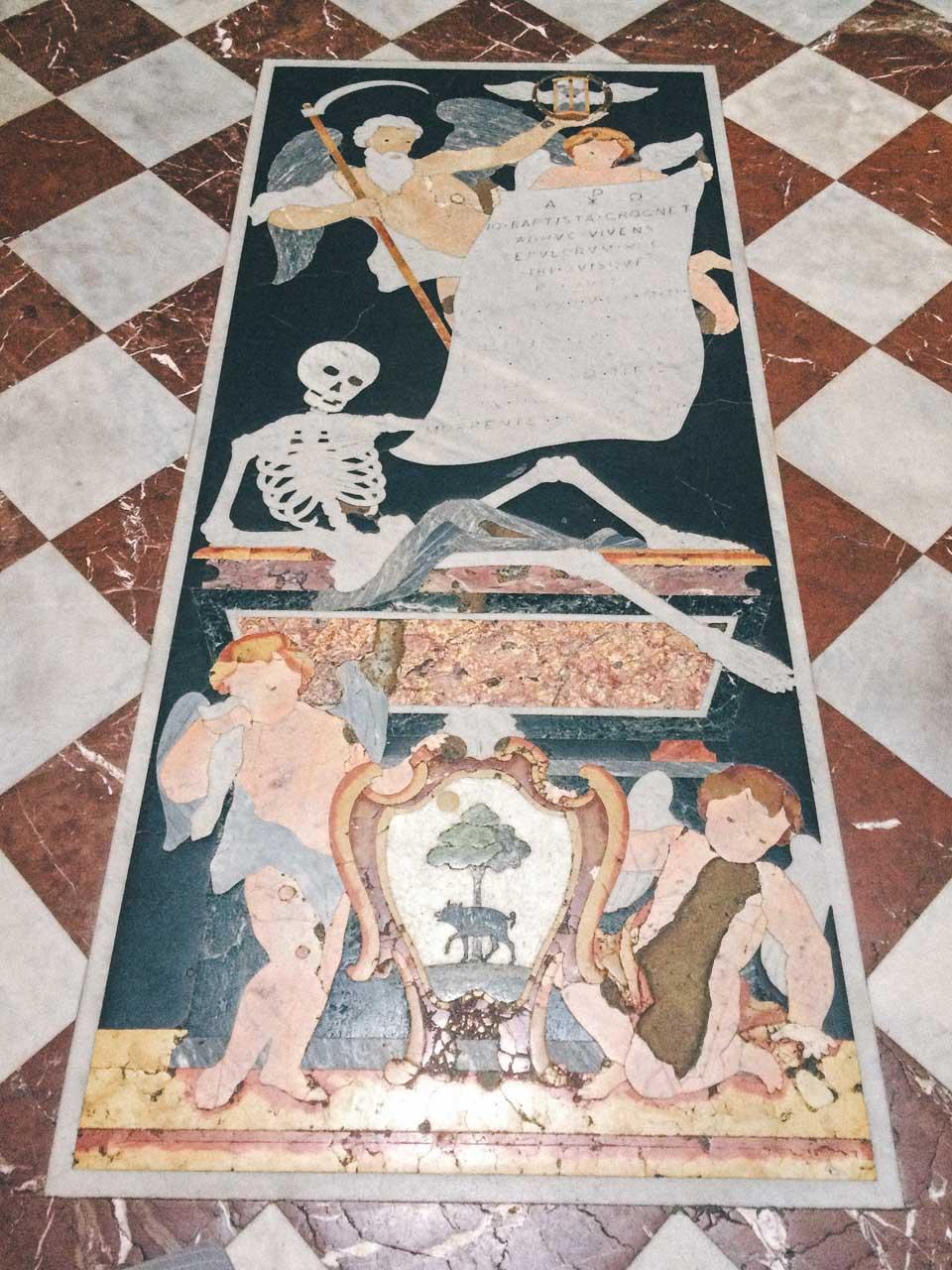 Tiles in the Collegiate Parish Church of St. Paul's Shipwreck in Valletta, Malta