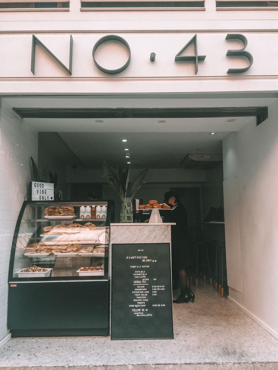 Café No. 43 in Valletta, Malta