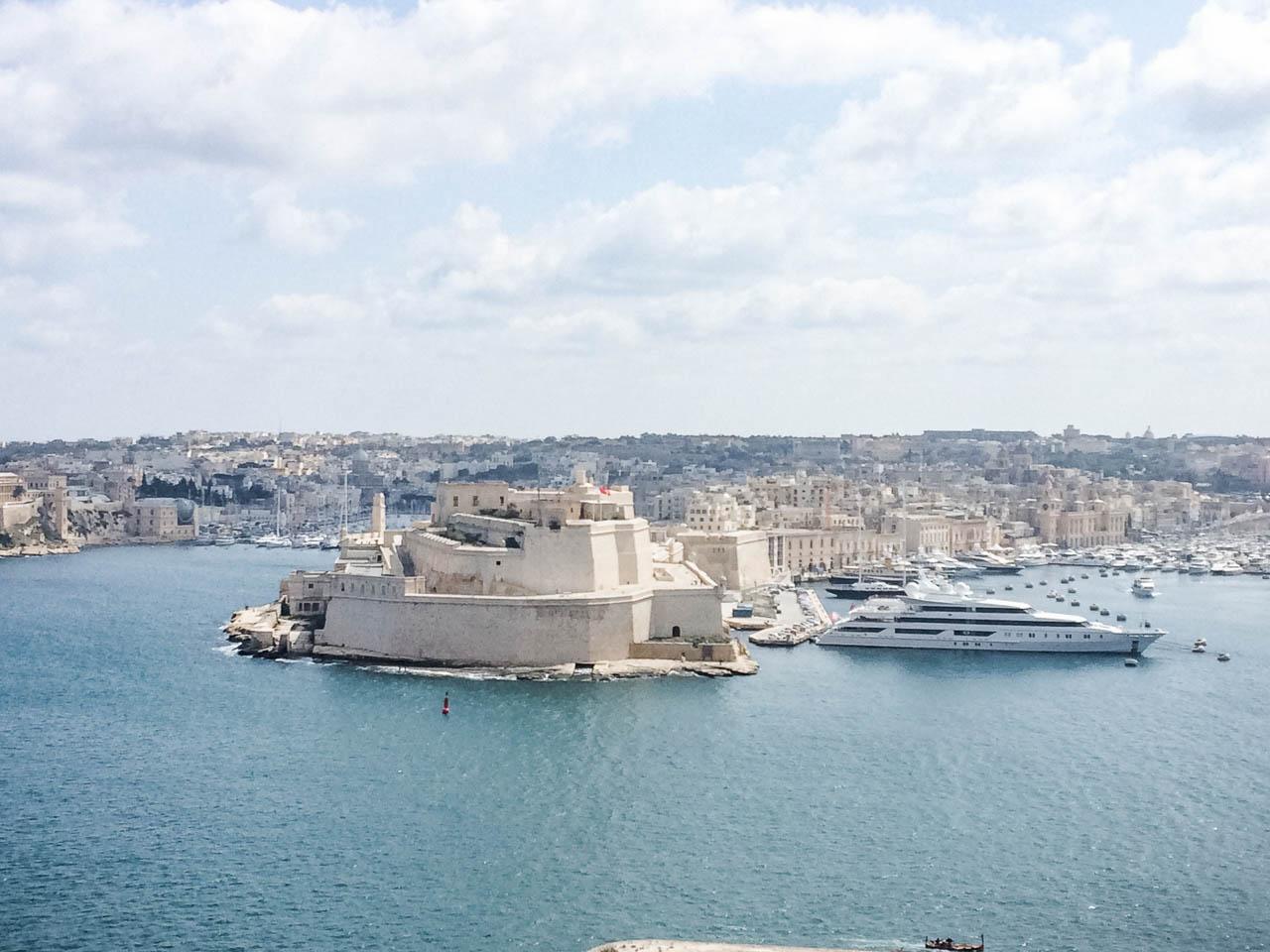The view from Upper Barrakka Gardens in Valletta, Malta