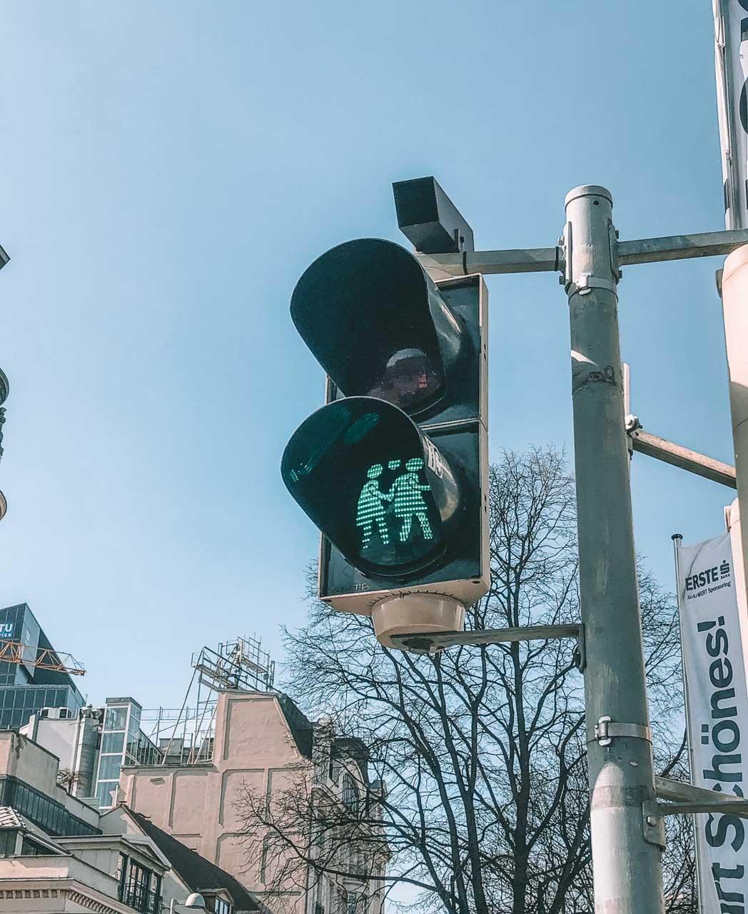 Traffic lights in Vienna, Austria