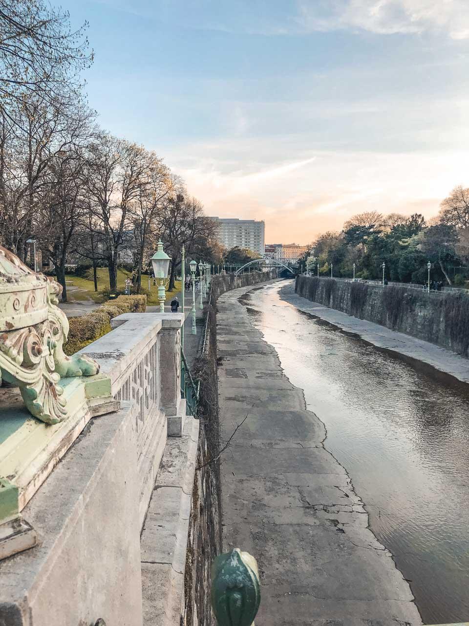 View from a bridge in Vienna, Austria