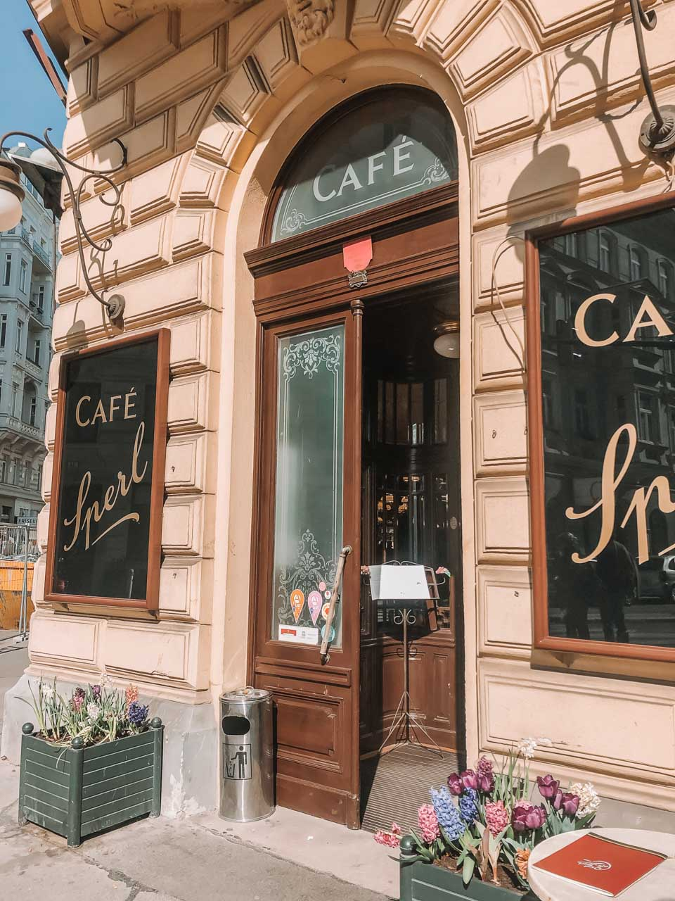 The entrance to Café Sperl in Vienna, Austria