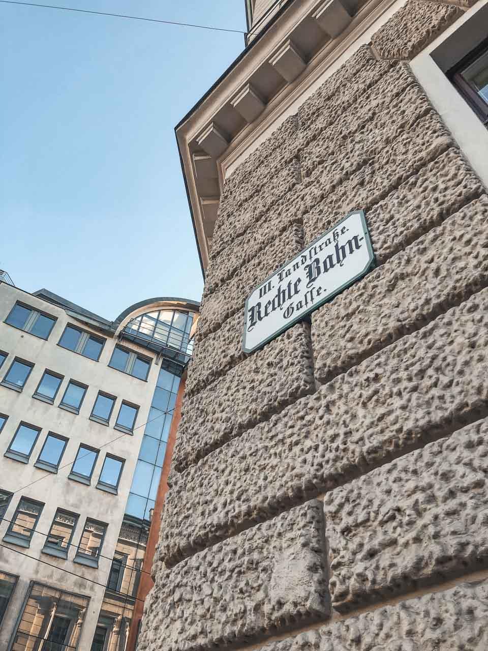 A street sign in Vienna, Austria