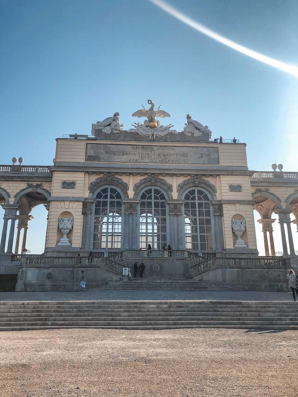 Café Gloriette in Schönbrunn Palace in Vienna, Austria
