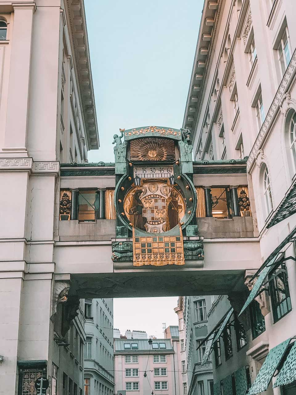 The Ankeruhr clock in Vienna, Austria