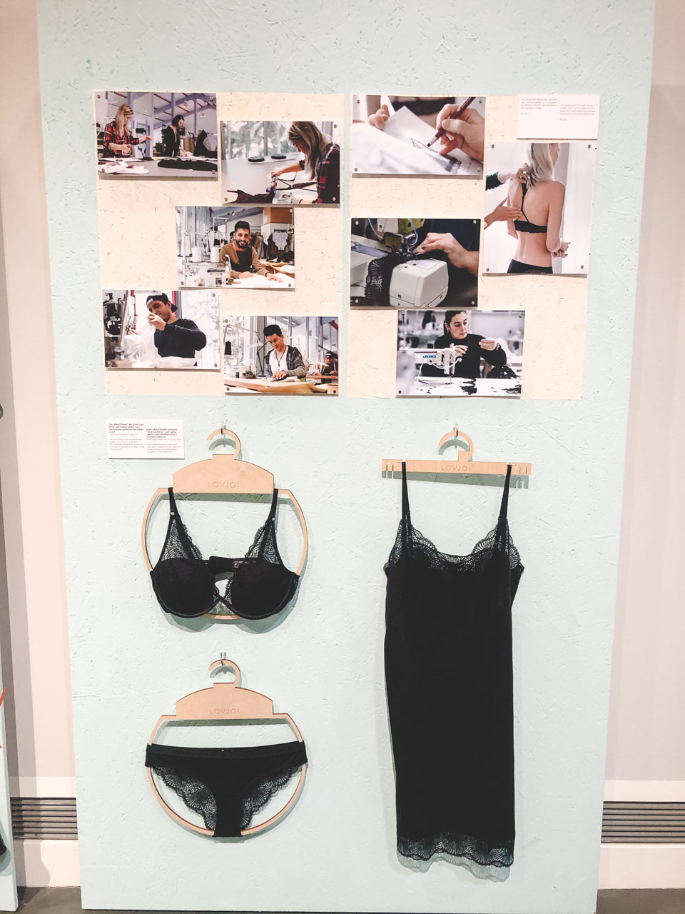 Sustainable lingerie on display at the Museum of European Cultures in Berlin