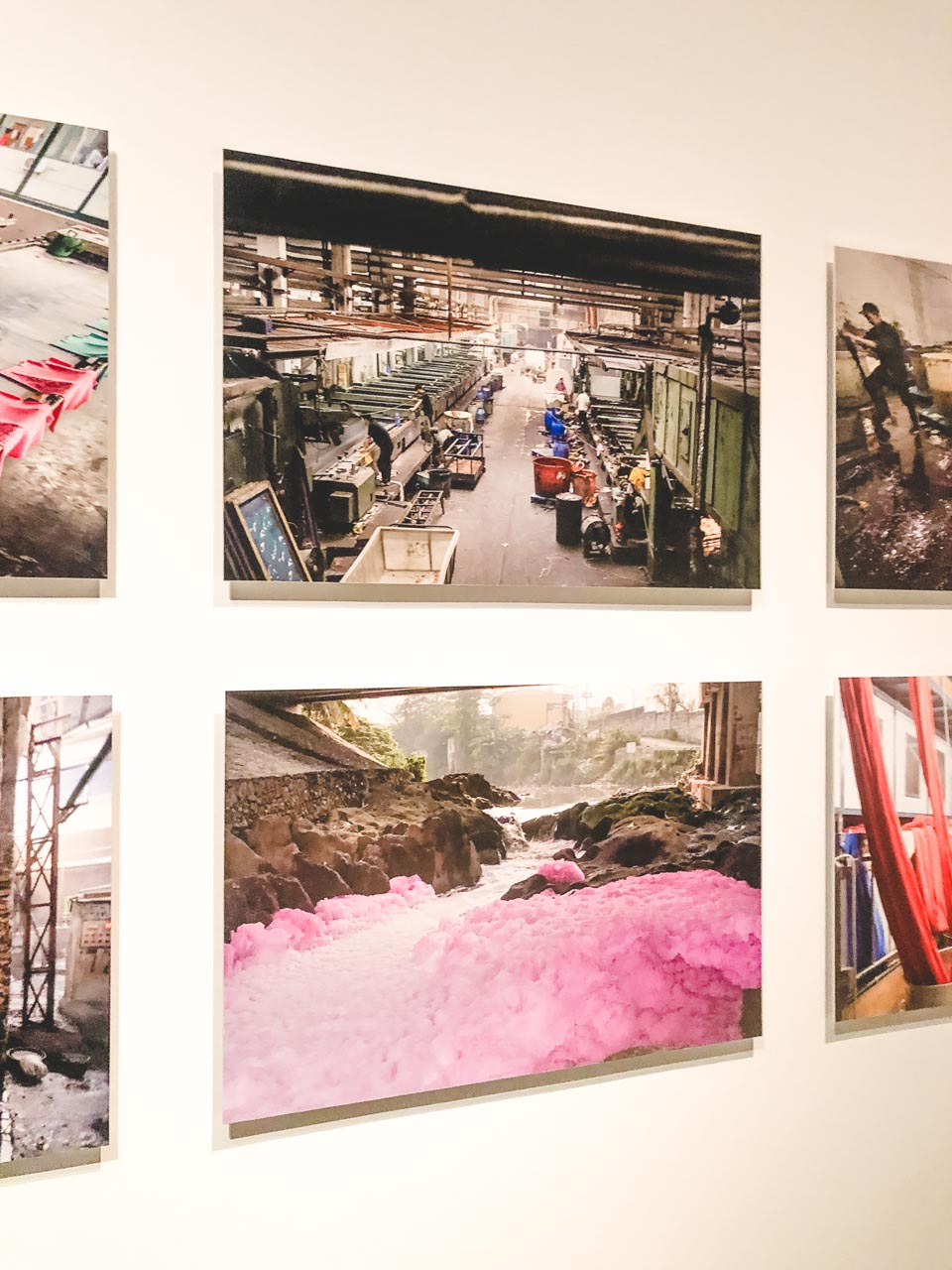 Photos of Asian factories and a river in Indonesia that turned purple due to various chemicals used in the production