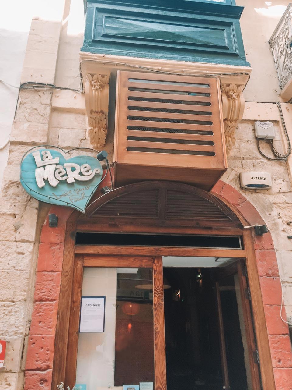 La Mère restaurant in Valletta, Malta