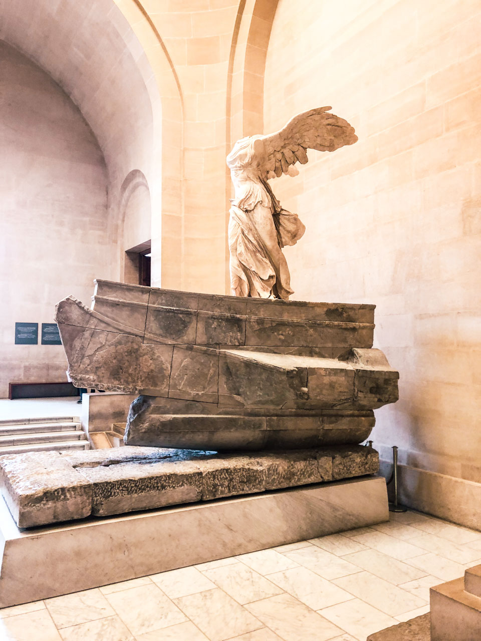 The Winged Victory of Samothrace, also called the Nike of Samothrace, on display at the Louvre in Paris, France
