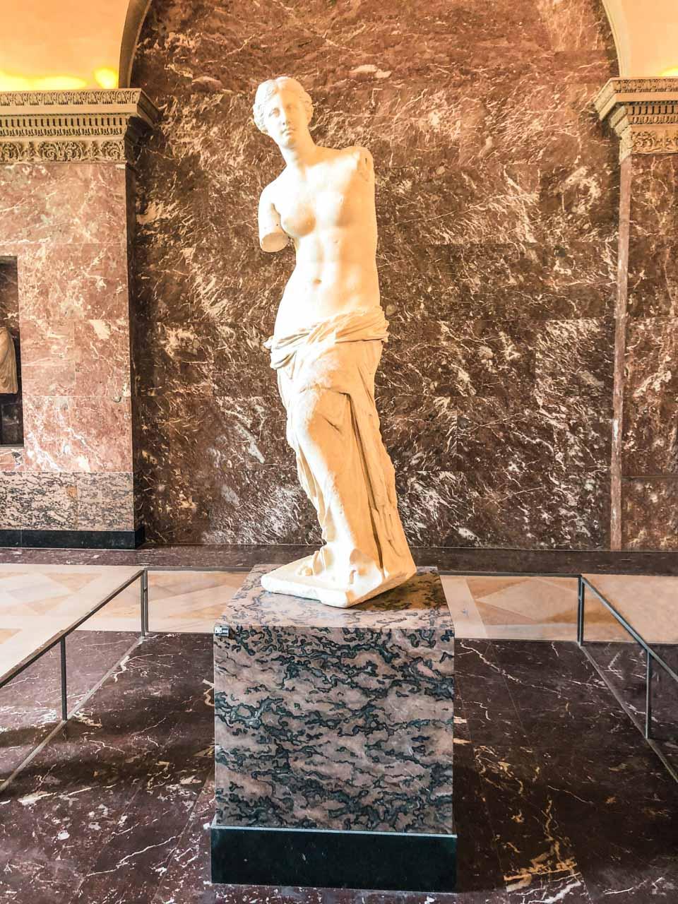 The Venus de Milo at the Louvre Museum in Paris, France